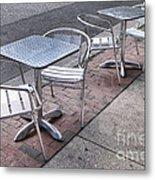 Retro Cafe Metal Print