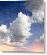 Retro Clouds 2 Metal Print
