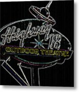 Retro Collection Drive-in Theaters Metal Print