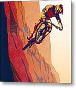 Retro Cycling Fine Art Poster Good To The Last Drop Metal Print