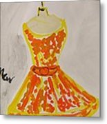 Retro Fall Fashion Metal Print