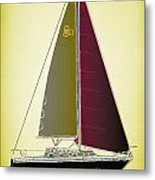 Retro Newport2 Metal Print