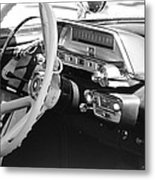 Retro Police Dash Metal Print