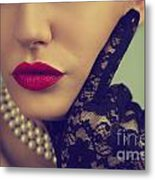Retro Portrait Metal Print