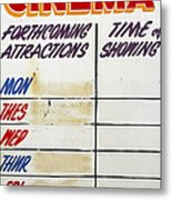 Retro Roxy Cinema Sign Metal Print