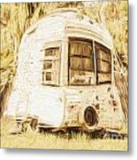 Retrod The Comic Caravan Metal Print