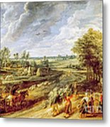 Return From The Harvest Metal Print