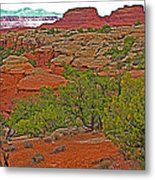 Return Trail To Elephant Hill In Needles District Of Canyonlands National Park-utah Metal Print