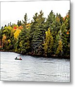 Returning From A Canoe Trip - V2 Metal Print