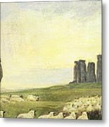 Returning Home     Stonehenge Metal Print