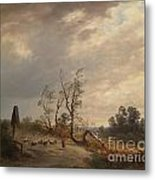 Returning Home Before An Approaching Storm Metal Print