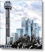Reunion Tower Dallas Texas Metal Print