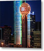 Reunion Tower Metal Print