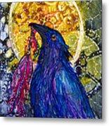 Reveling Raven Metal Print