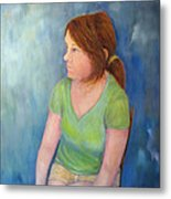 Reverie Of A Young Woman Metal Print