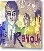 Revolution Metal Print by Mo T