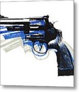 Revolver On White - Left Facing Metal Print by Michael Tompsett