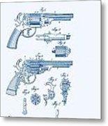 Revolver Patent E.t Starr Metal Print
