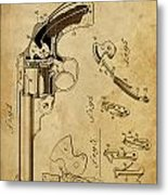 Revolving Fire Arm - Patented On 1885 Metal Print