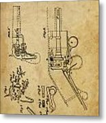 Revolving Gun Colt - Patented On 1836 Metal Print