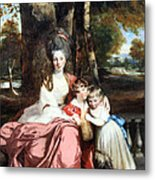 Reynolds' Lady Elizabeth Delme And Her Children Metal Print
