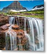 Reynolds Mountain Falls Metal Print