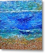 Rhapsody On The Sea Square Crop Metal Print