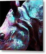 Rhino 1 - Rhinoceros Art Prints Metal Print by Sharon Cummings
