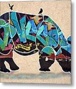 Rhino 2 Metal Print