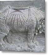 Rhino Relief - Church Door Detail Pisa Metal Print