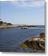 Rhode Island Seascape And House Metal Print