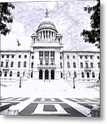 Rhode Island State House Bw Metal Print
