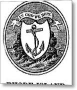 Rhode Island State Seal Metal Print
