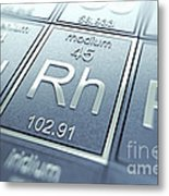 Rhodium Chemical Element Metal Print