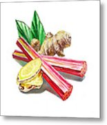 Rhubarb And Ginger Metal Print
