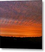 Rhymney Valley Sunrise Panorama Metal Print