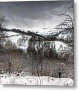 Rhymney Valley Winter 5 Metal Print