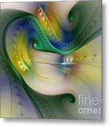 Rhythm Of Life-abstract Fractal Art Metal Print