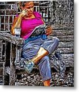 Rhythmic Reading Metal Print