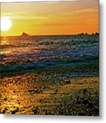 Rialto Beach Sunset Olympic National Park Metal Print