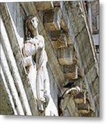 Rialto Bridge Angel Metal Print
