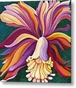 Ribbon Orchid Metal Print