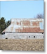 Ribbon Roof Barn Metal Print