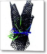 Ribbons On Mesh Metal Print