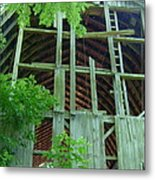 Ribs Of A Decaying Barn Metal Print