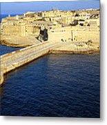 Ricasoli Breakwater At Valletta's Grand Harbor Metal Print