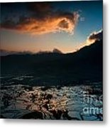 Rice Terrace And Cloud Metal Print