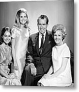 Richard Nixon And Family Metal Print
