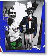Richard Nixon Masks Uncle Sam Collage  Democratic National Convention Miami Beach Florida 1972-2008 Metal Print