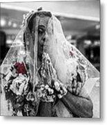 Richard Simmons Is A Blushing Bride Metal Print